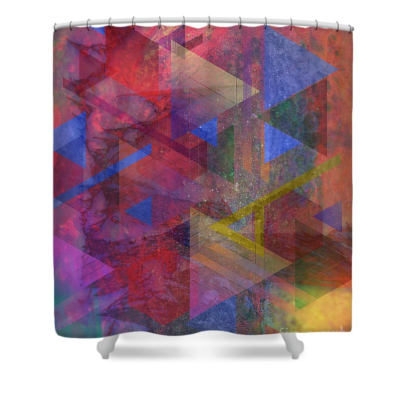 Another Time Shower Curtain featuring the digital art Another Time by John Beck