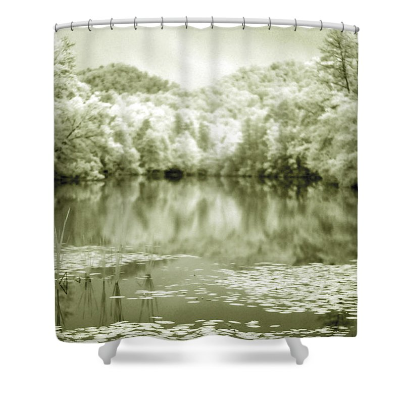 Infrared Shower Curtain featuring the photograph Another World by Alex Grichenko
