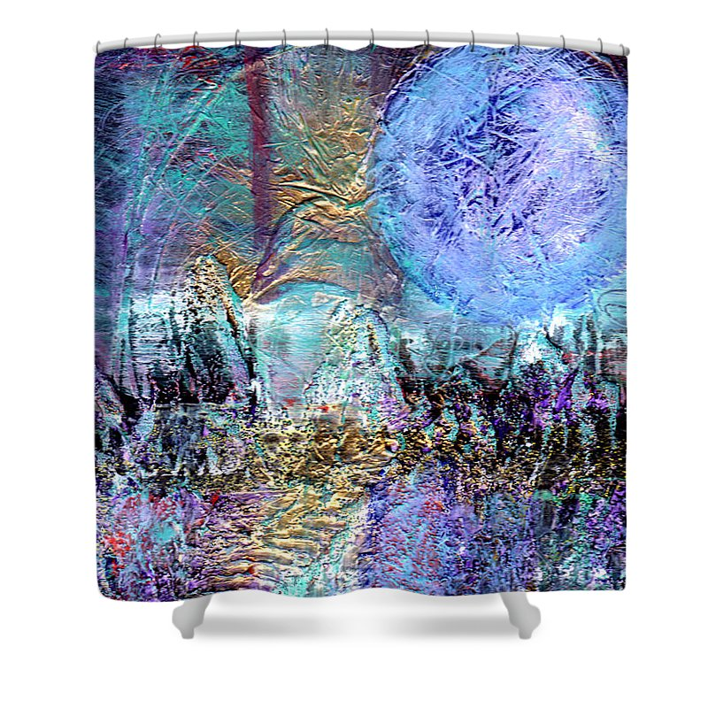 Surreal Shower Curtain featuring the painting Another World by Wayne Potrafka