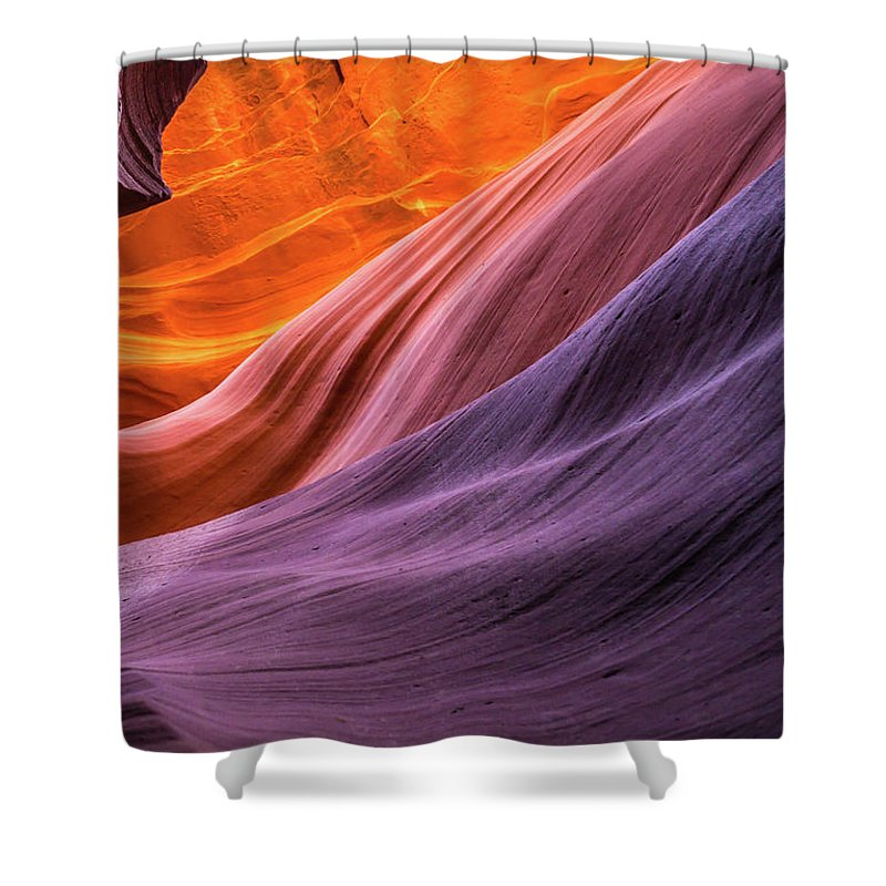 Landscape Shower Curtain featuring the photograph Antelope Rainbow Color Wave by Nana Suzuki