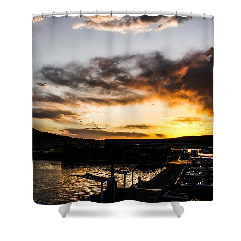 Water Shower Curtain featuring the photograph Antelope Sunset by Tyler Mcbride