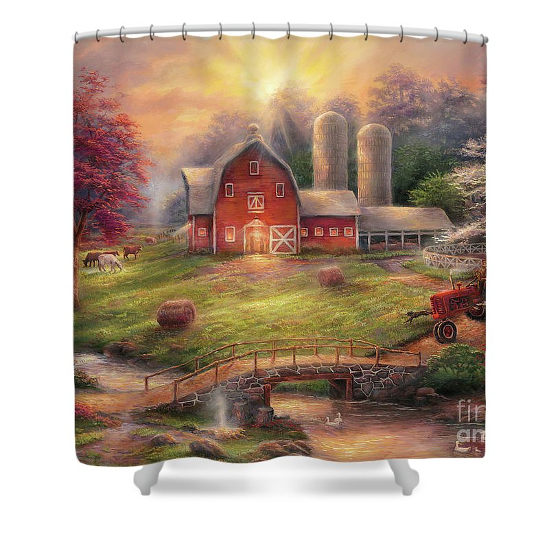 Tractor Paintings Shower Curtains
