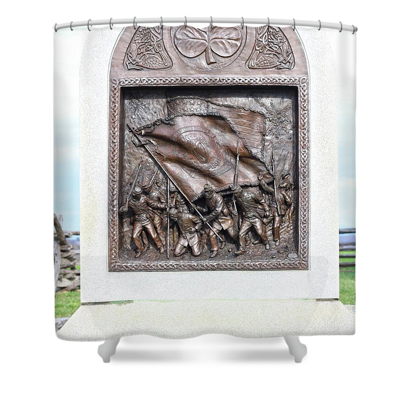 Antietam Battle Field Shower Curtain featuring the photograph Antietam Irish Brigade by JB Stran