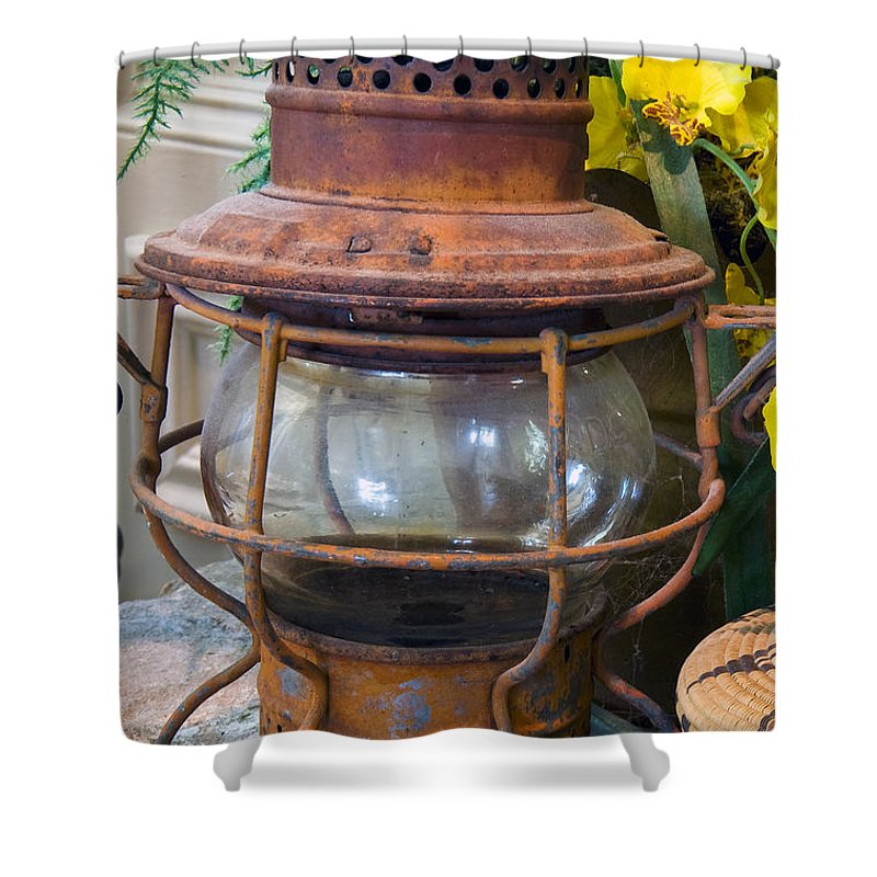 Lantern Shower Curtain featuring the photograph Antique Lantern by Stephen Anderson