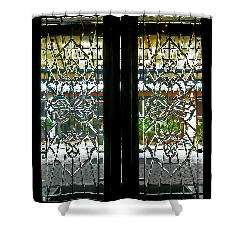 Antique Lead Glass Doors Shower Curtain For Sale By Mark Sellers