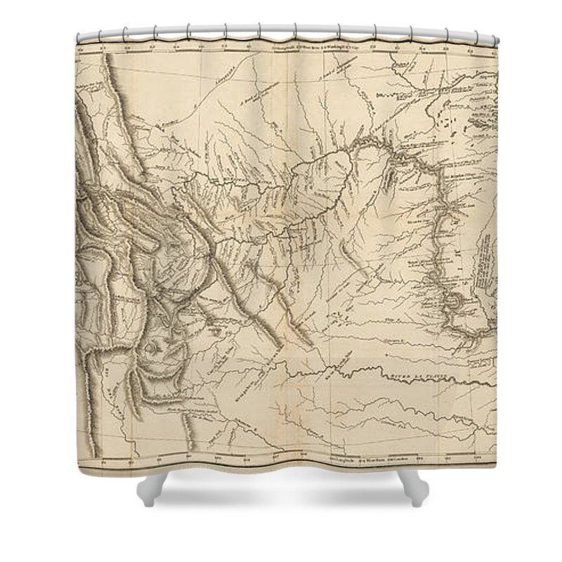 Map Of America Lewis And Clark.Antique Map Lewis And Clark S Track Across North America Shower