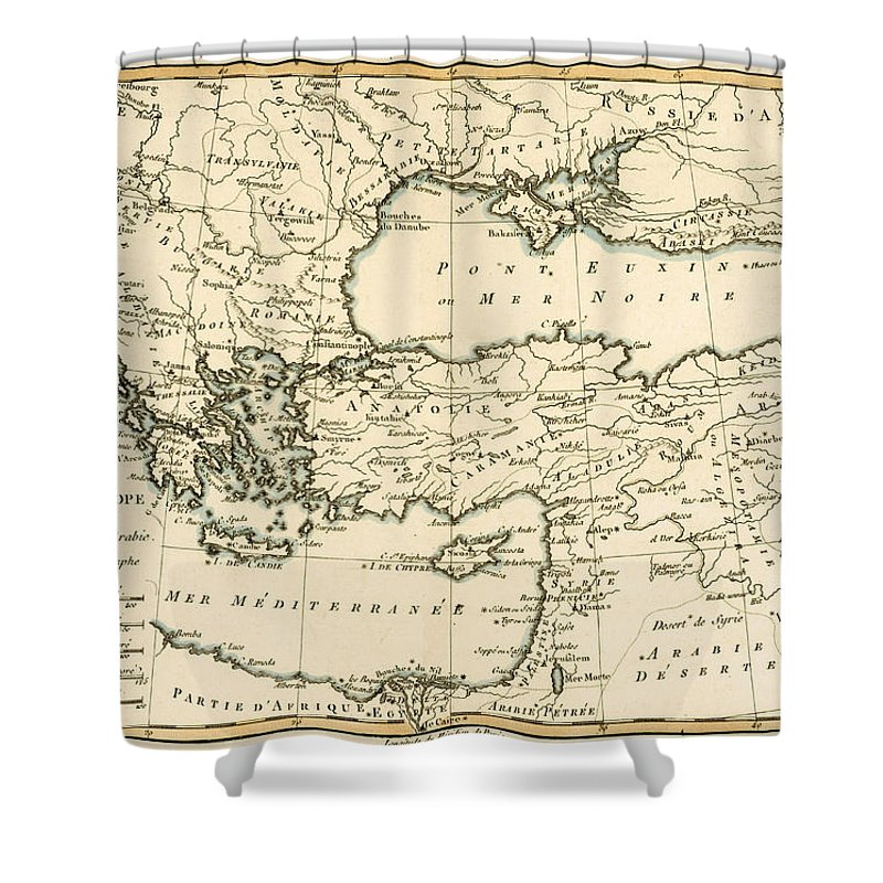 Antique Map Of Turkey Shower Curtain For Sale By Guillaume Raynal