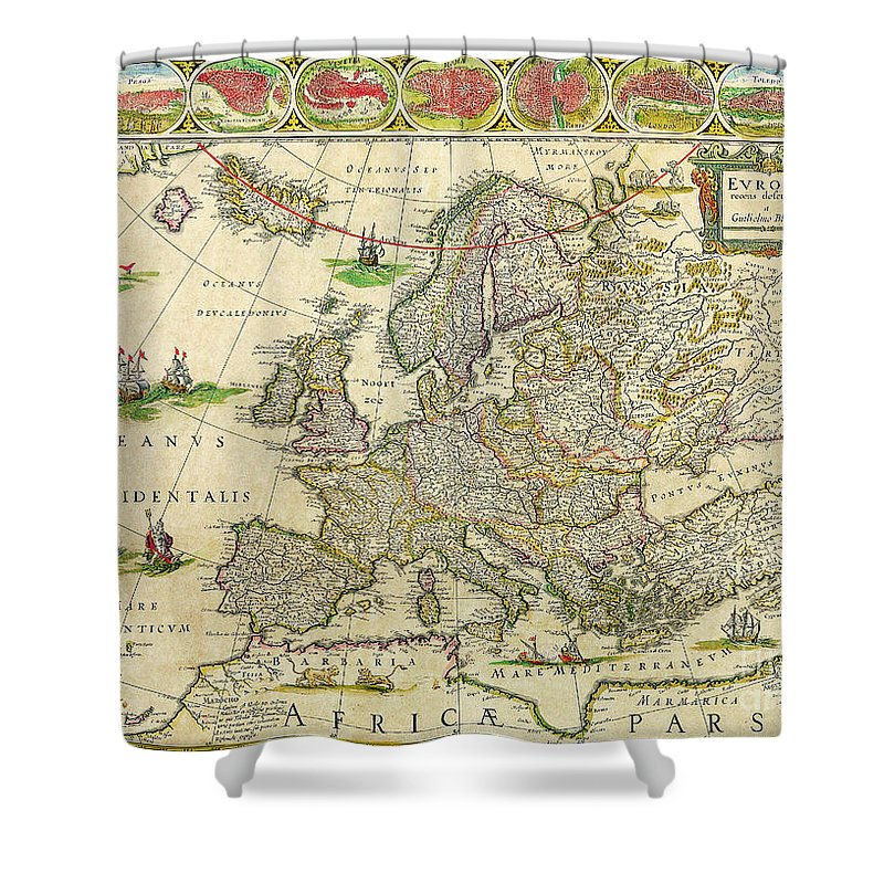 Blaeu World Map.Antique Maps Of The World Map Of Europe Willem Blaeu C 1650 Shower
