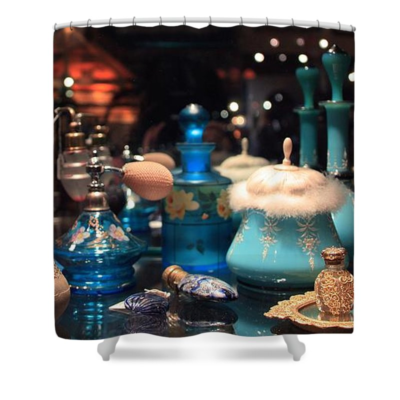 Antique Shower Curtain featuring the photograph Antique Perfume Bottles by Joanne Coyle