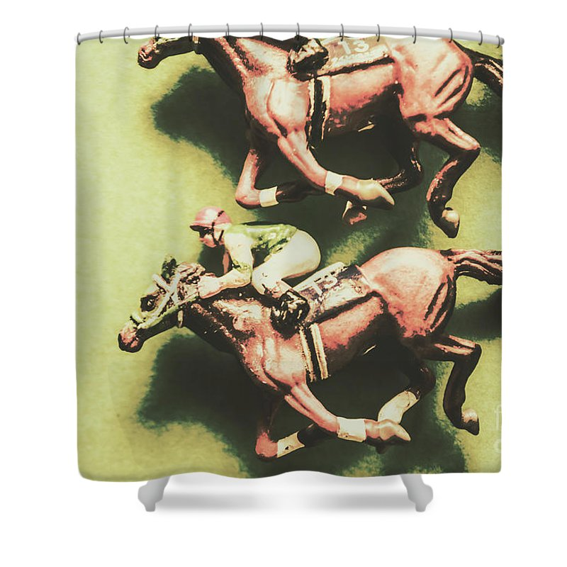 Sport Shower Curtain featuring the photograph Antique Race by Jorgo Photography - Wall Art Gallery