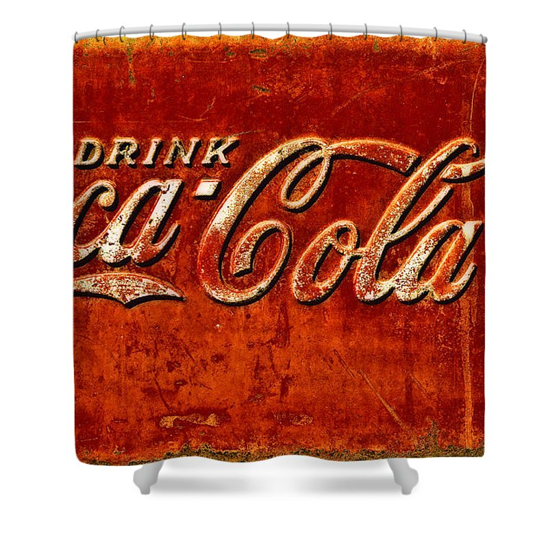 Ice Box Shower Curtain featuring the photograph Antique Soda Cooler 3 by Stephen Anderson
