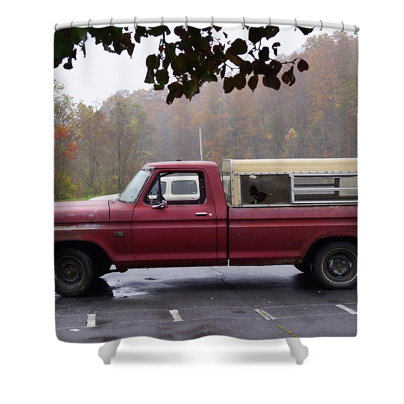 Truck Shower Curtain featuring the photograph Antique Truck by Phyllis Dabbs
