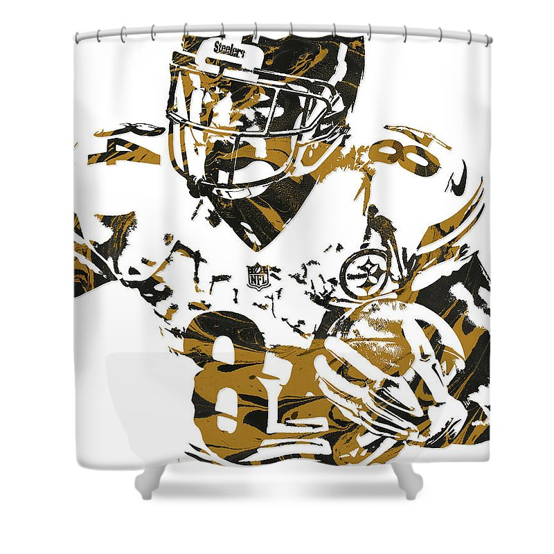 Antonio Brown Pittsburgh Steelers Pixel Art 5 Shower Curtain For Sale By Joe Hamilton