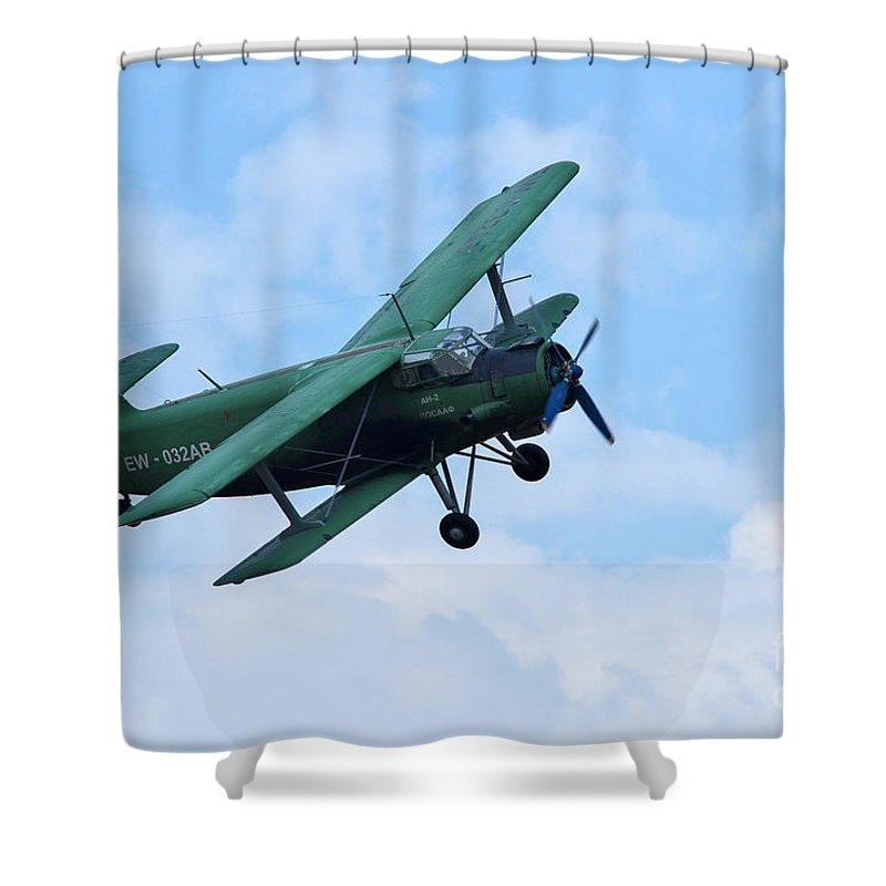 Antonov An 2 Shower Curtain featuring the photograph Antonov An 2 by R Muirhead Art