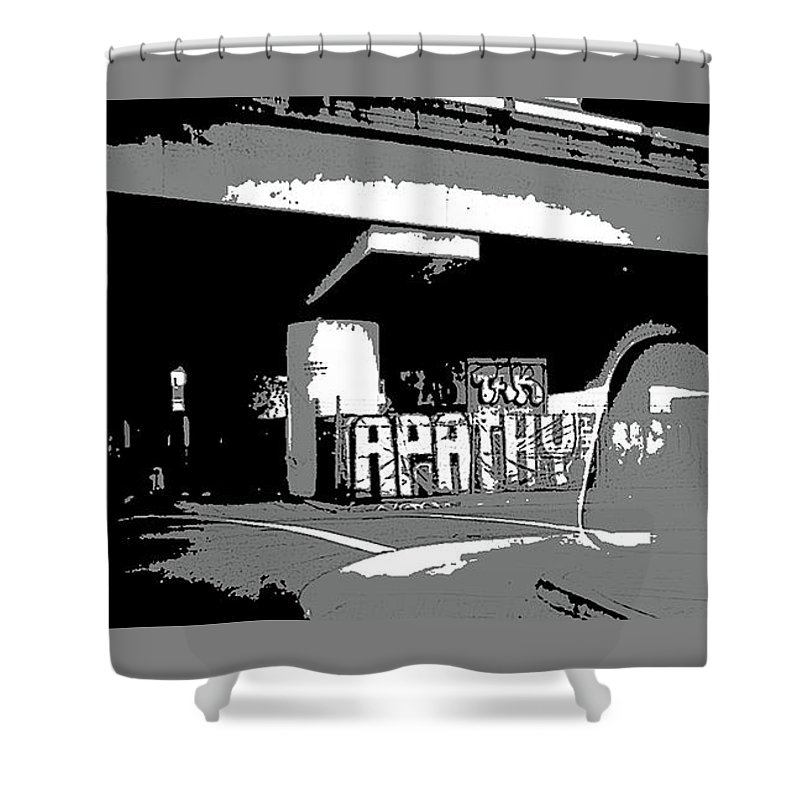 Art Shower Curtain featuring the photograph Apathy Avenue by Ryan Fox