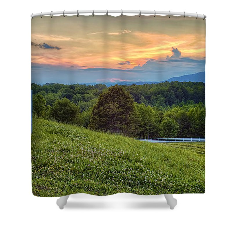 Appalachian Mountains Shower Curtain featuring the photograph Appalachian Evening by Phill Doherty
