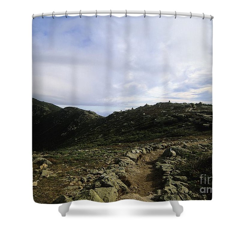 Appalachian Trail Shower Curtain featuring the photograph Appalachian Trail - Mount Lincoln - White Mountains New Hampshire Usa by Erin Paul Donovan