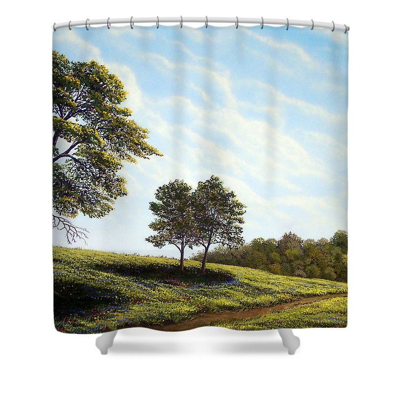Wilderness Shower Curtain featuring the painting April Afternoon by Frank Wilson