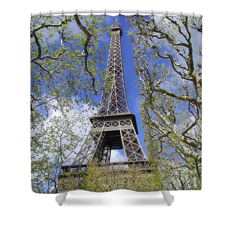 Paris Shower Curtain featuring the photograph April In Paris by Tom Reynen