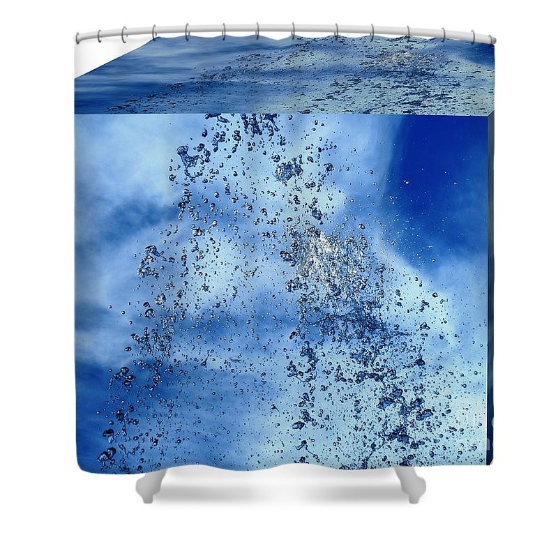 Water Shower Curtain featuring the photograph Aqua Art Cube by Carlos Amaro