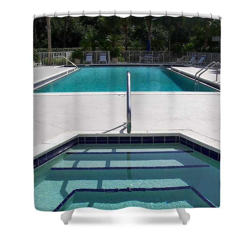 Pool Shower Curtain featuring the photograph Aqua by Laurie Paci