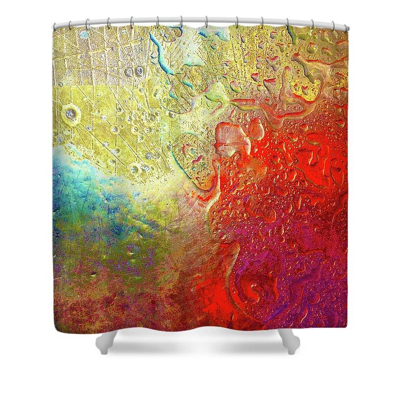 Aqua Metallic Series Rainbow Shower Curtain For Sale By Tony Rubino