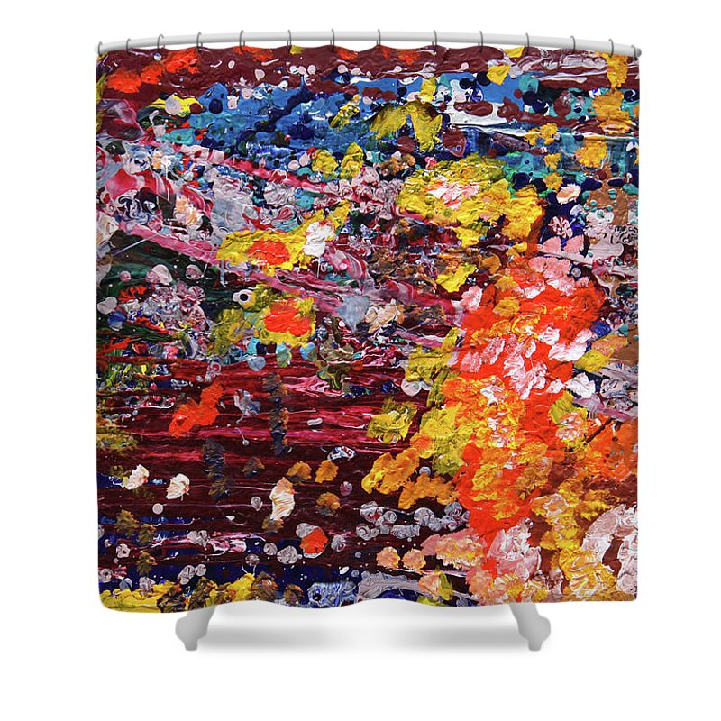 Fusionart Shower Curtain featuring the painting Aquarium by Ralph White