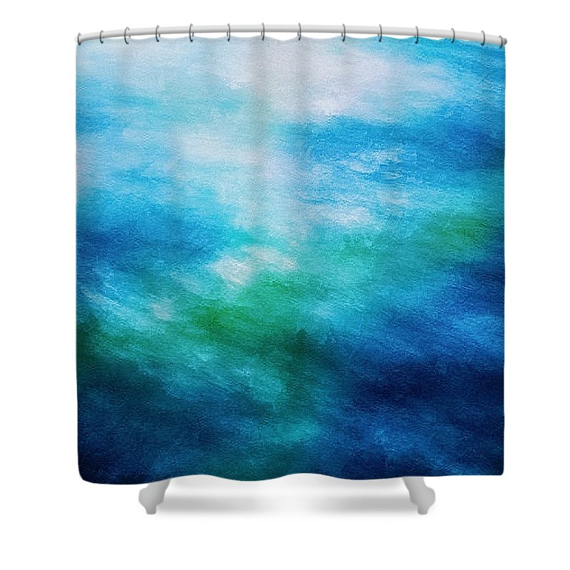 Ocean Shower Curtain featuring the digital art Aquatic Healing Overture by Don DePaola