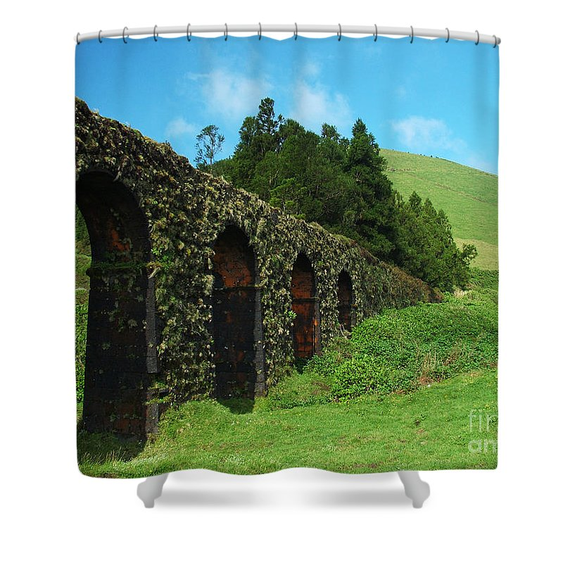 Ancient Shower Curtain featuring the photograph Aqueduct by Gaspar Avila