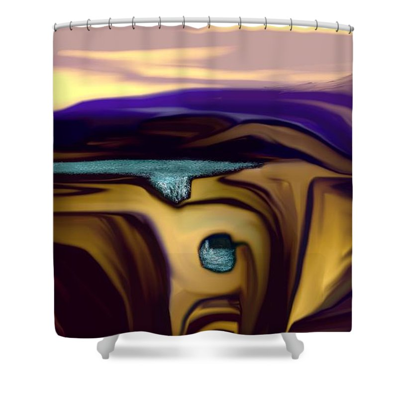 Abstract Shower Curtain featuring the digital art Aquifer by David Lane