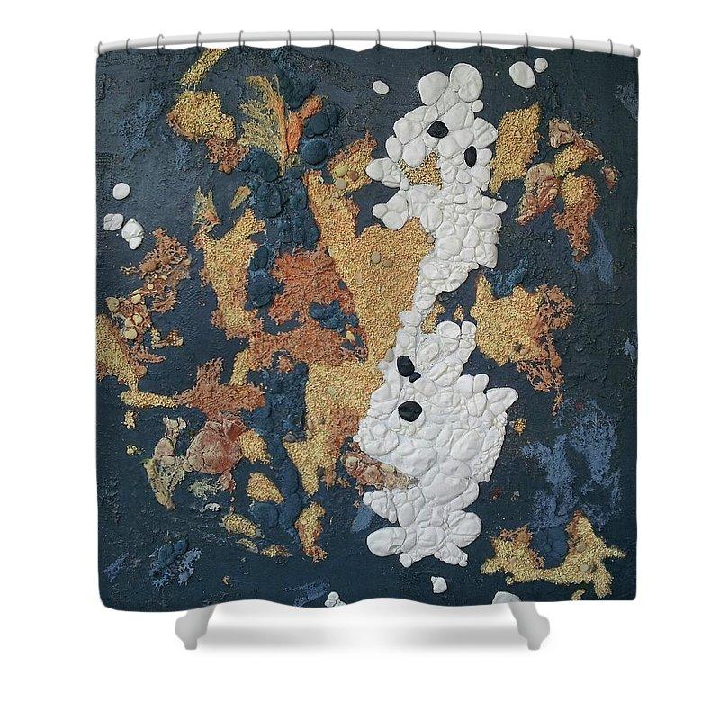 Cuadro Abstracto Shower Curtain featuring the painting Arabesco by Kunka Andonova