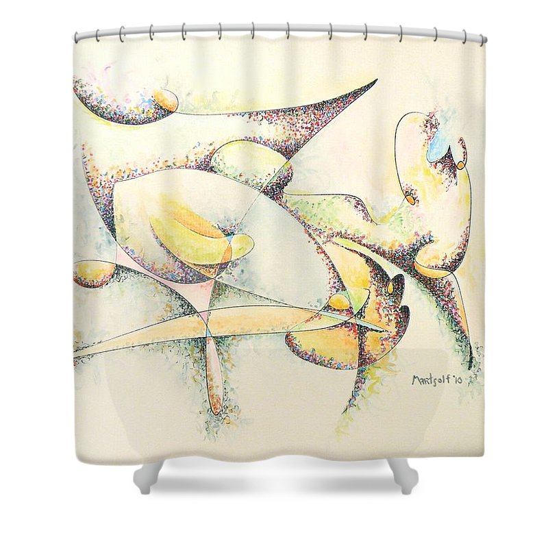 Arachne Arachnids Shower Curtain featuring the painting Arachne by Dave Martsolf