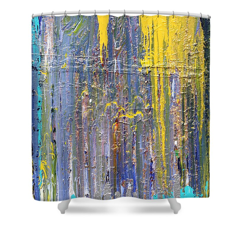 Fusionart Shower Curtain featuring the painting Arachnid by Ralph White