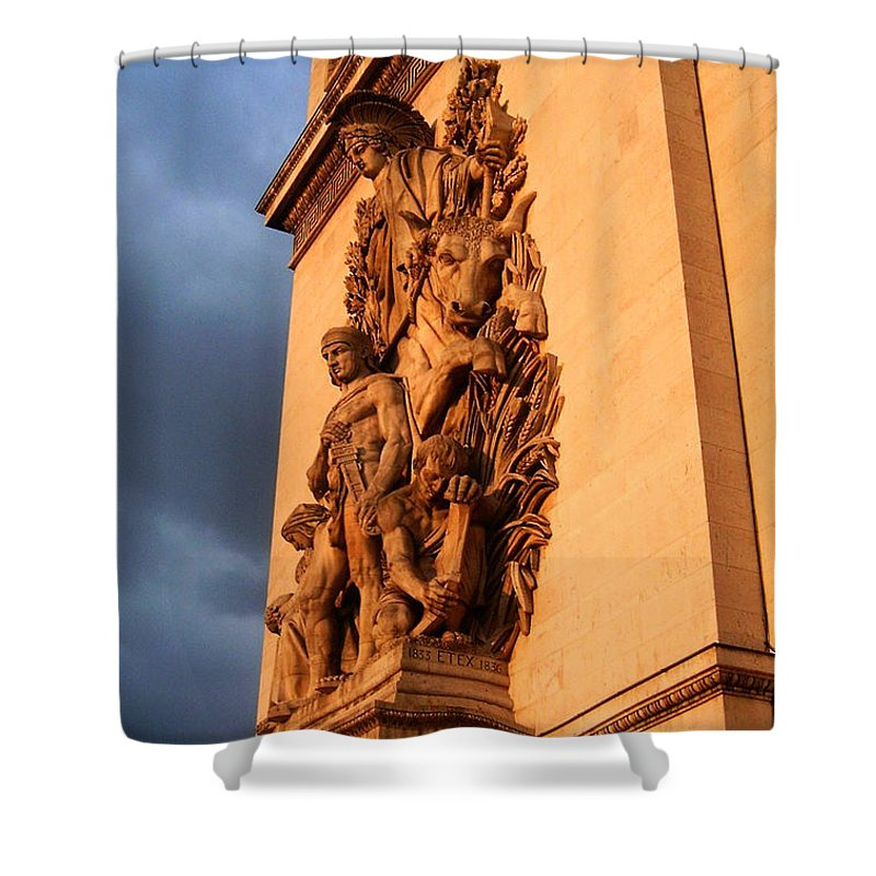 Europe Shower Curtain featuring the photograph Arc De Triomphe by Juergen Weiss