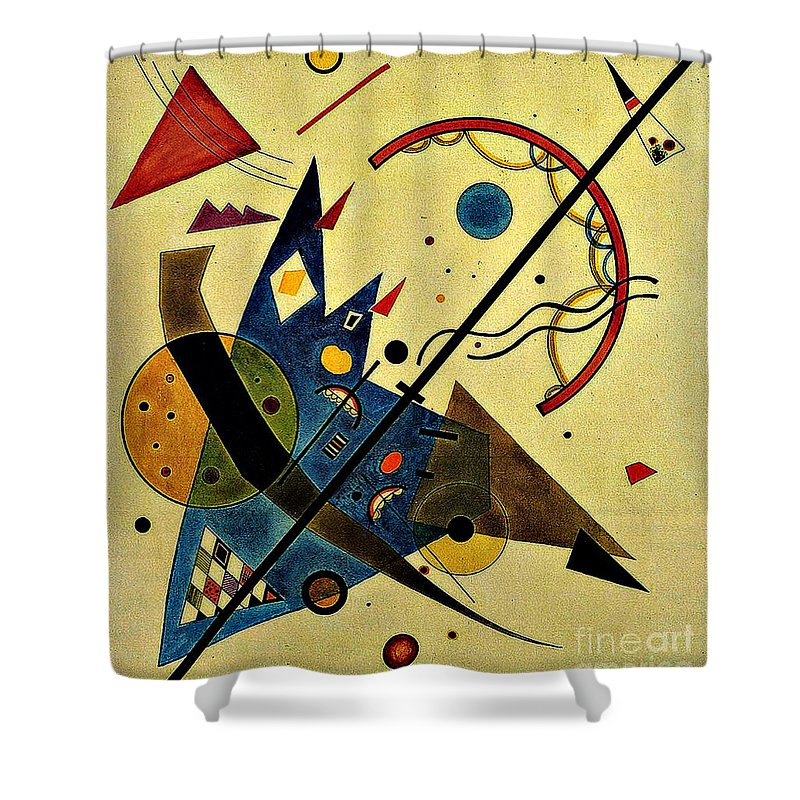 Abstract Shower Curtain featuring the painting Arch And Point by Kandinsky