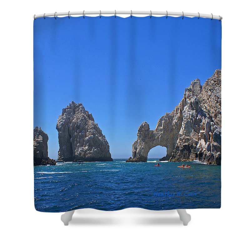 Mexico Shower Curtain featuring the photograph Arch At Cabo San Lucas by Heather Coen