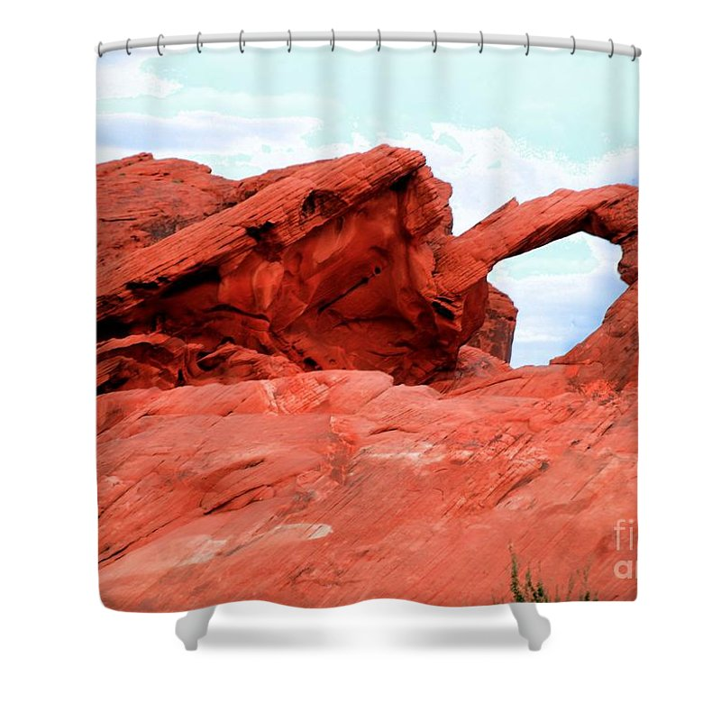 Arch Shower Curtain featuring the photograph Arch by Kathleen Struckle
