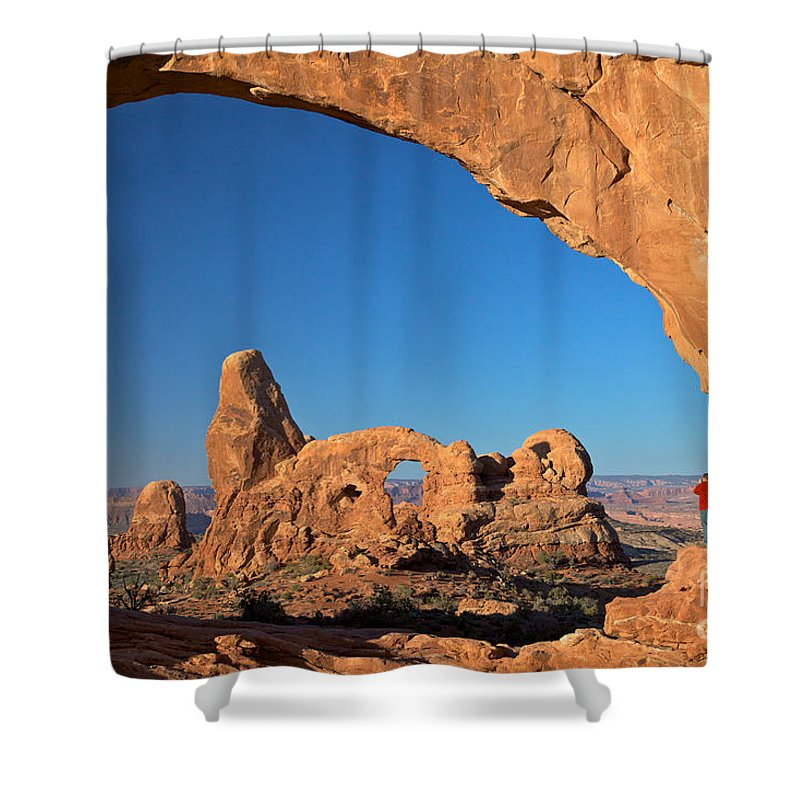 Arches Shower Curtain featuring the photograph Arch Though An Arch by Daryl L Hunter