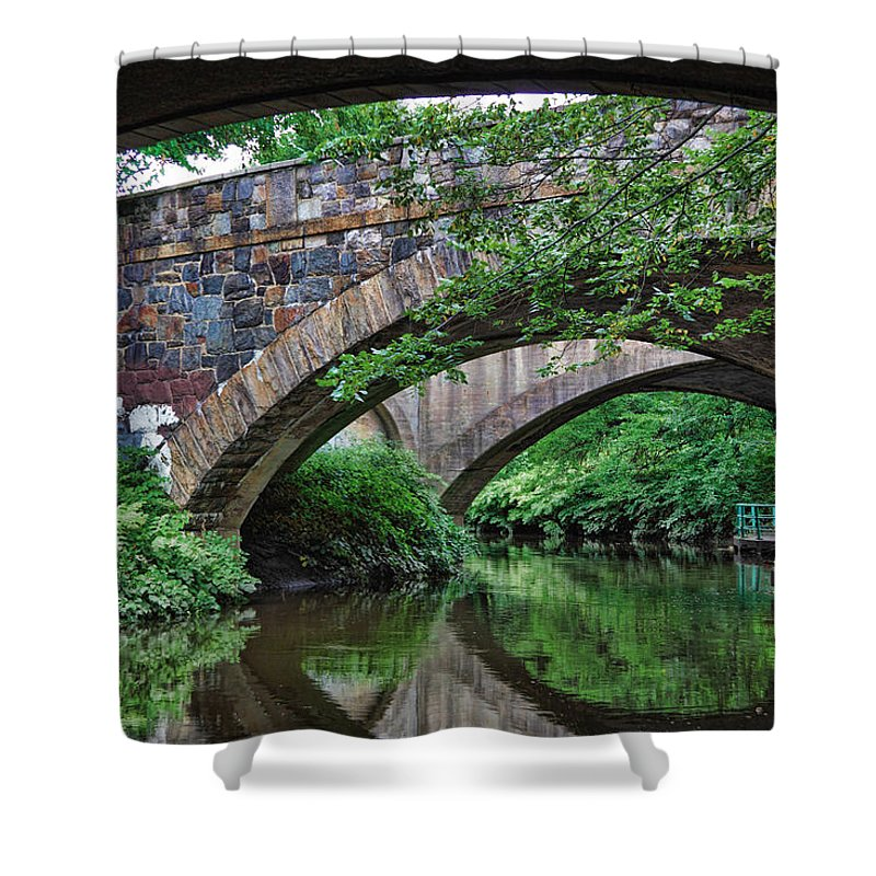 Bridge Shower Curtain featuring the photograph Arches by June Marie Sobrito