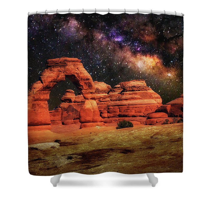 Delicate Arch Shower Curtain featuring the photograph Arches National Park 44 by Mike Penney