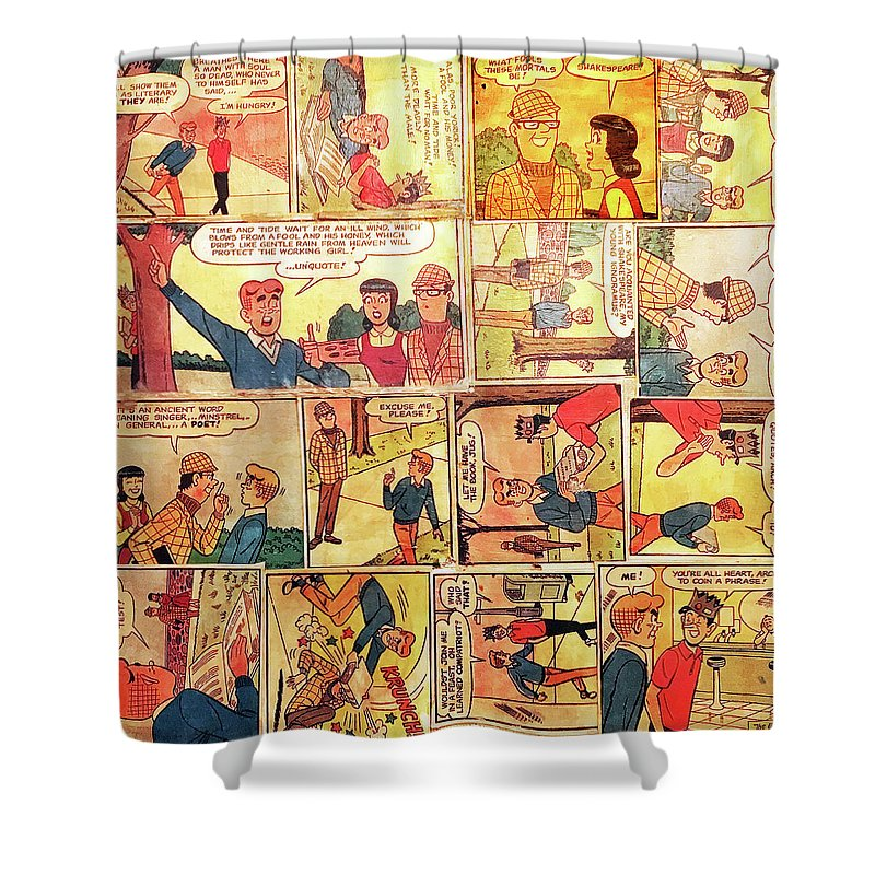 Archie Comics Shower Curtain Featuring The Mixed Media By Judy Tolley
