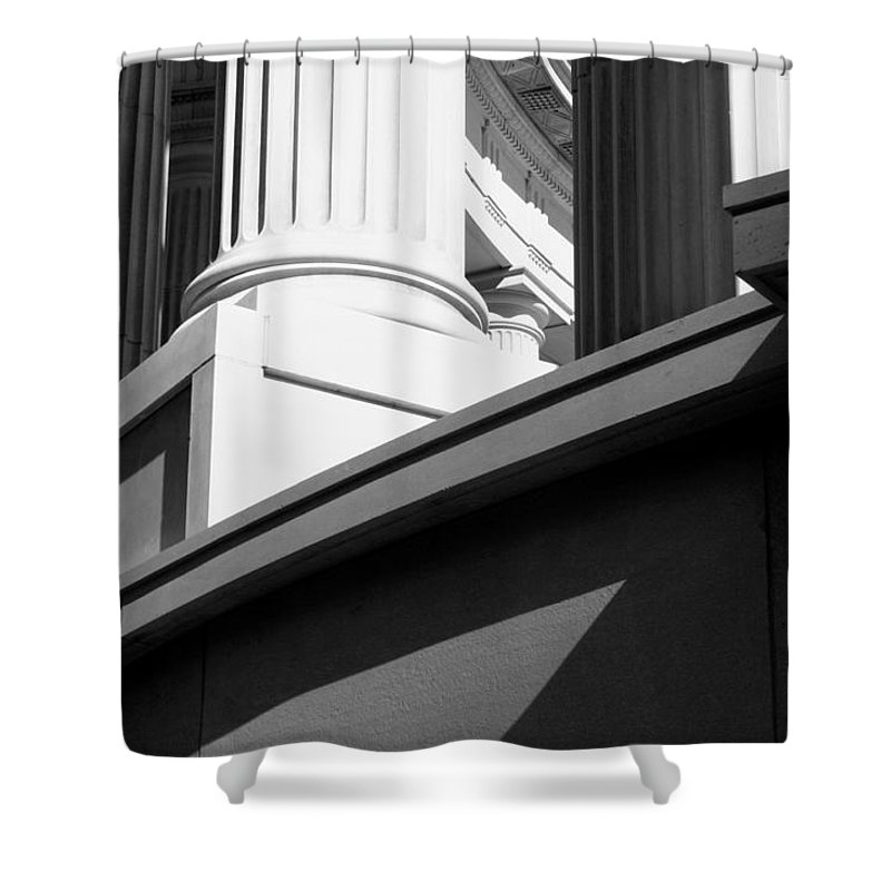 Architectural Columns Shower Curtain featuring the photograph Architectural Columns by Patrick Malon