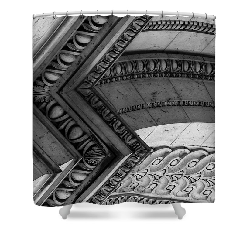 Architecture Shower Curtain featuring the photograph Architectural Details Of The Arc by Donna Corless