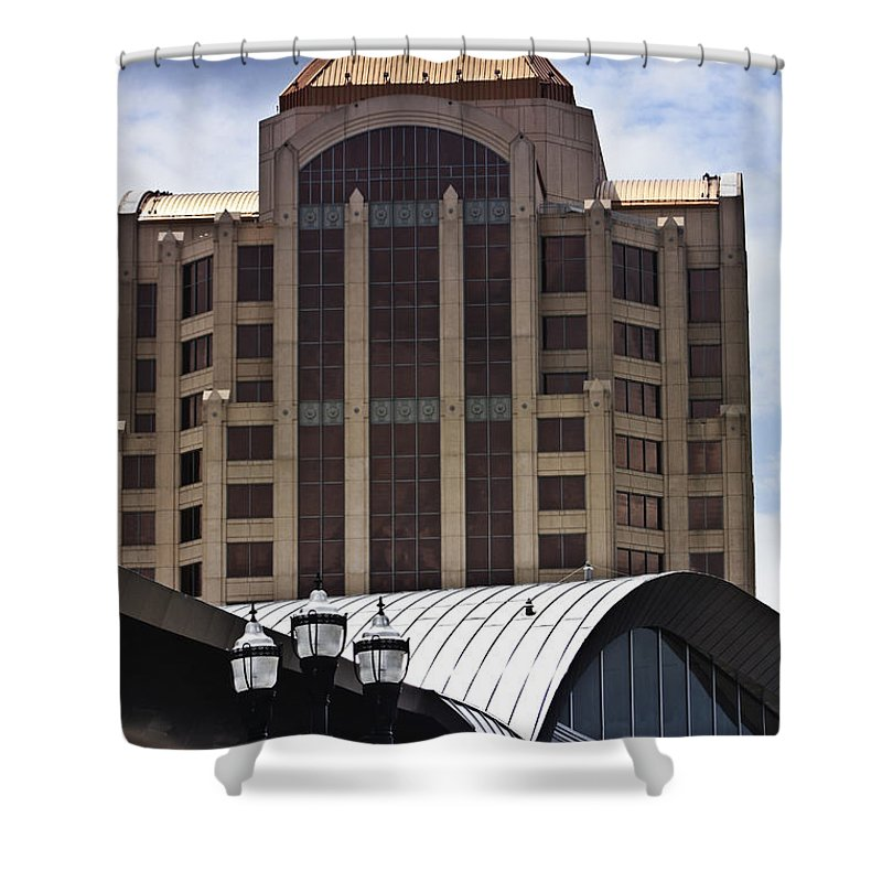 Architecture Shower Curtain featuring the photograph Architectural Differences Roanoke Virginia by Teresa Mucha