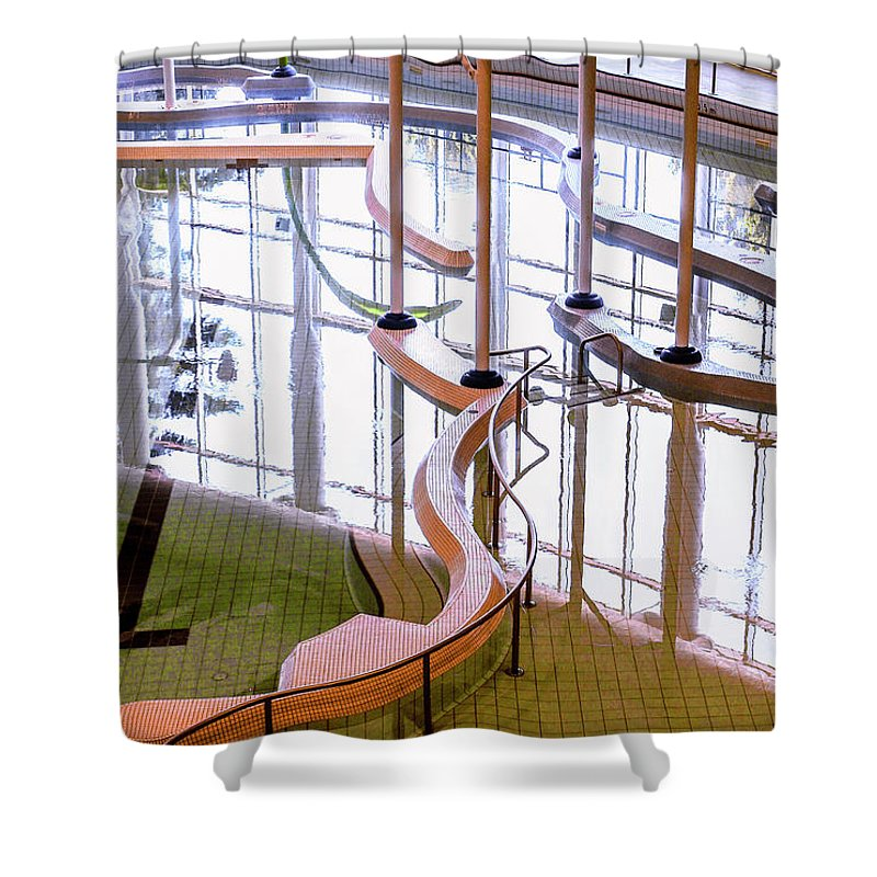Digital Shower Curtain featuring the photograph Architecture - Amazing Maze by Arthur Babiarz