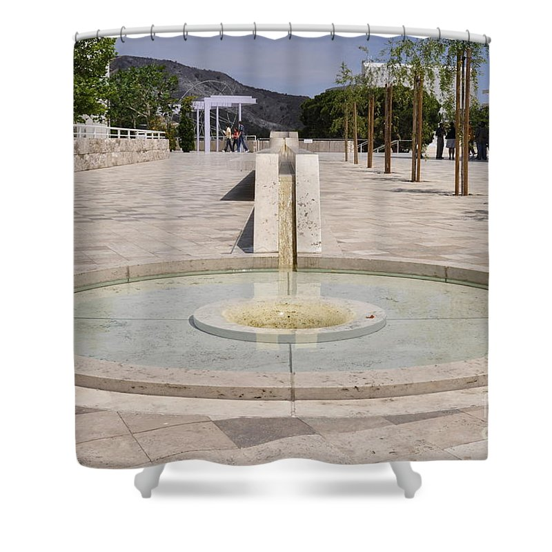 Clay Shower Curtain featuring the photograph Architecture At The Getty by Clayton Bruster