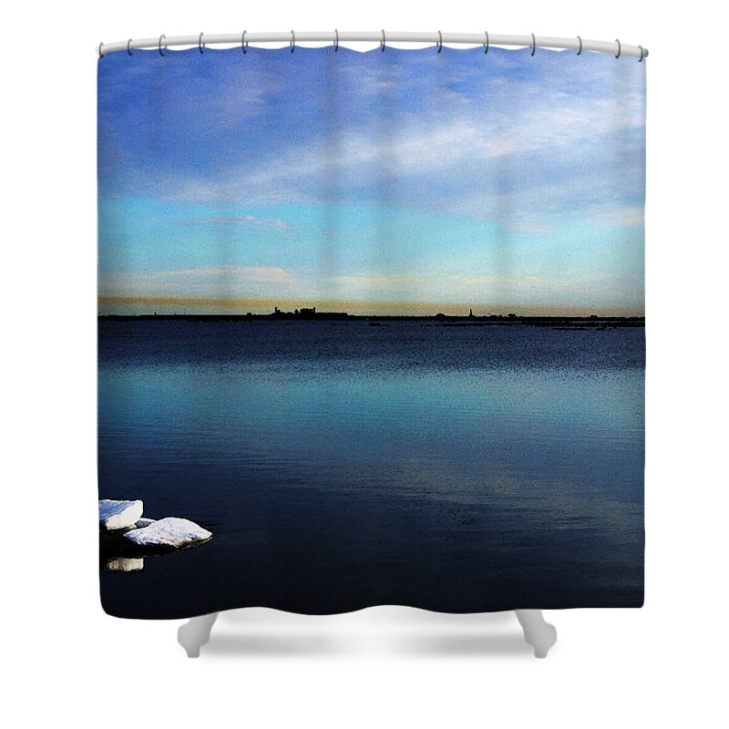 Digital Art Shower Curtain featuring the digital art Arctic Ice by Anthony Jones