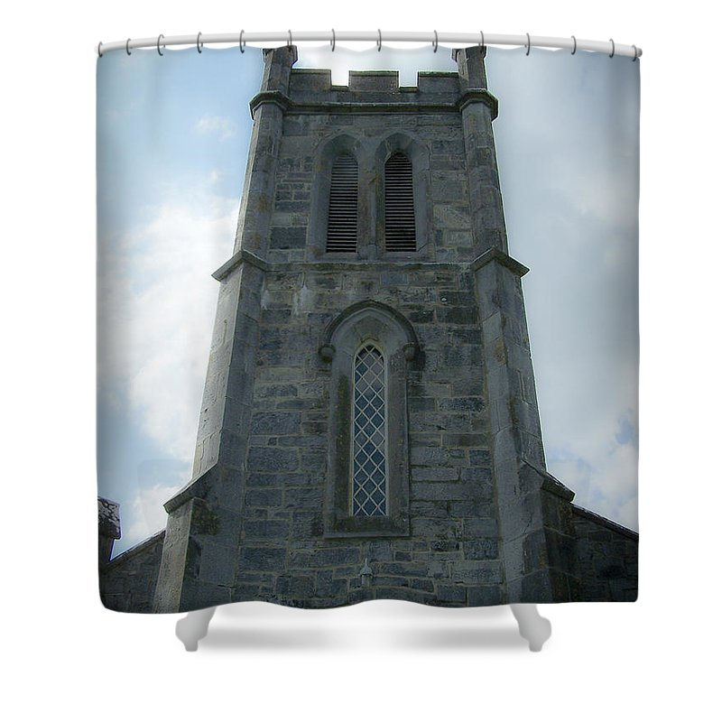 Irish Shower Curtain featuring the photograph Ardcroney Church County Clare Ireland by Teresa Mucha