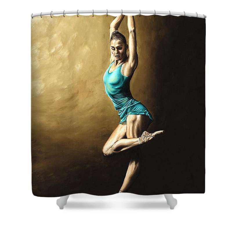 Dance Shower Curtain featuring the painting Ardent Dancer by Richard Young