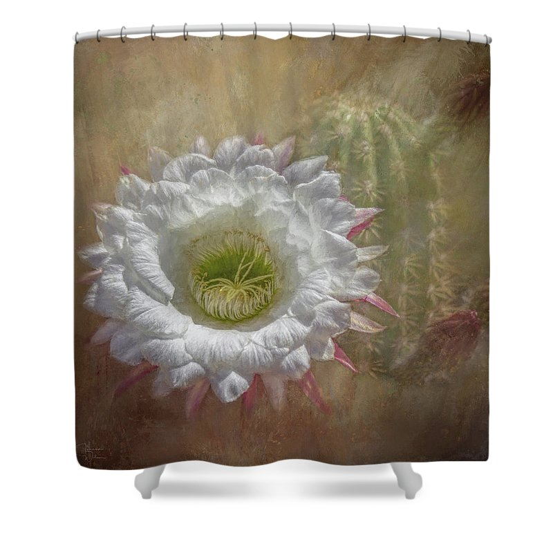 Plant Shower Curtain featuring the mixed media Argentine Giant Painted by Teresa Wilson